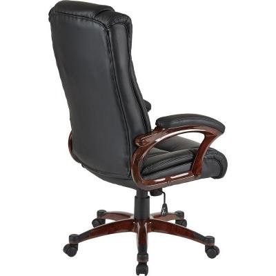 Кресло руководителя EChair 632 TR черное рециклированная кожа