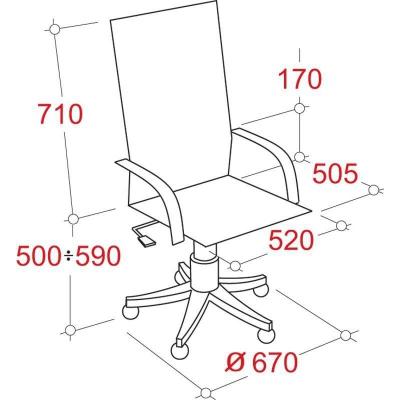 Кресло руководителя EChair 524 TPU экокожа
