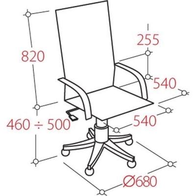 Кресло руководителя  EChair 604 ML кожа