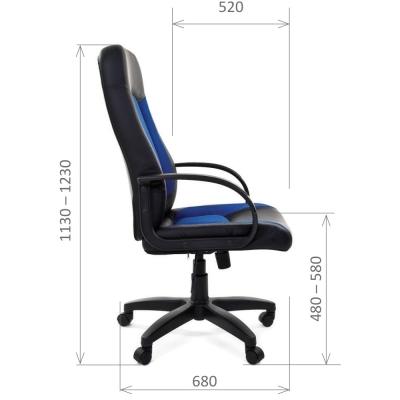 Кресло руководителя Chairman CH 429 экокожа/ткань