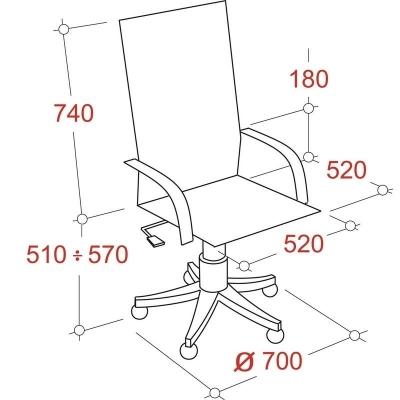 Кресло руководителя DB-700 кожа