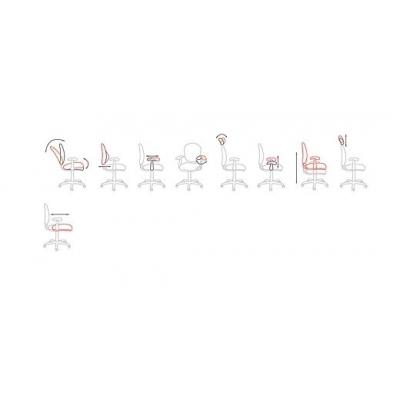 Кресло руководителя Chairman CH 769 ткань/сетчатый акрил