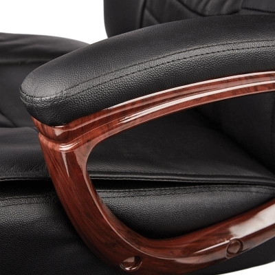 Кресло руководителя  EChair 635 ML кожа