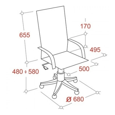 Кресло руководителя  EChair 639 TPU экокожа