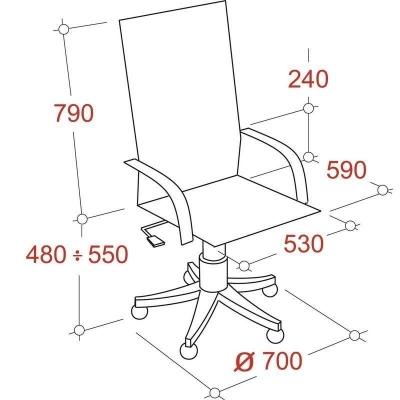Кресло руководителя Echair 636 ML кожа