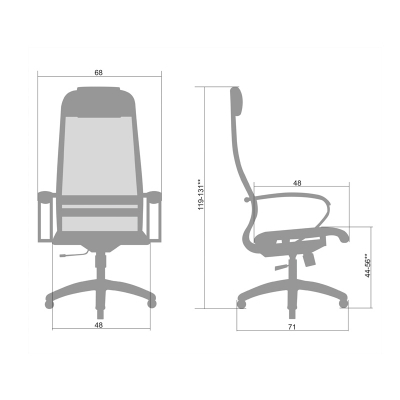 Кресло руководителя Metta SU-1-BK PL комплект 1