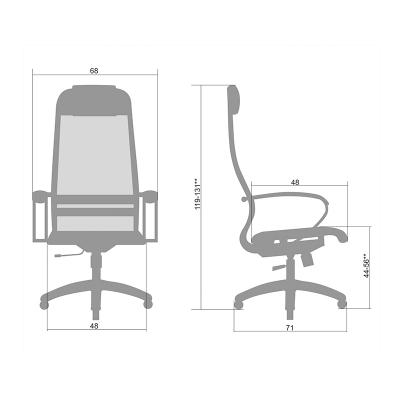 Кресло руководителя Metta SU-1-BK PL Комплект 18