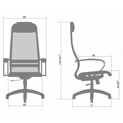 Кресло руководителя Metta Комплект 6 кожа перф.