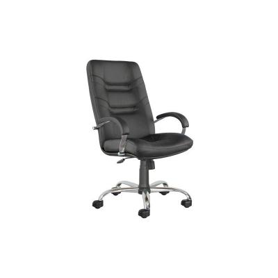 Кресло руководителя Minister Steel chrome PU01 экокожа