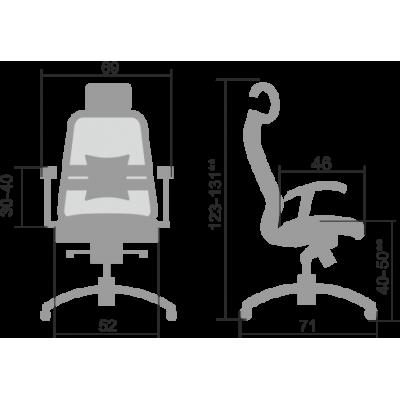 Кресло руководителя SAMURAI S-3.04