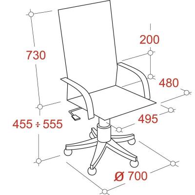 Кресло руководителя  EChair 430 TPU экокожа