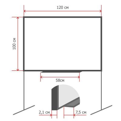 Доска магнитно-маркерная Attache Economy 100х120 см вращающаяся, на роликах