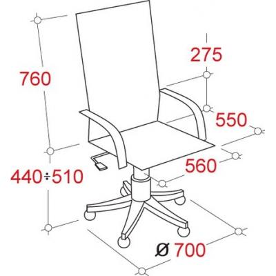 Кресло руководителя EChair CS-861E/CH-6 иск.кожа