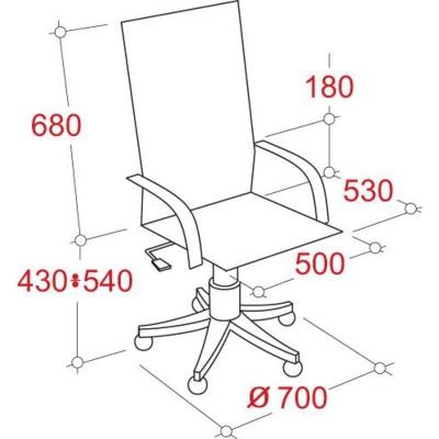 Кресло руководителя EChair CS 698 Е искусственная кожа