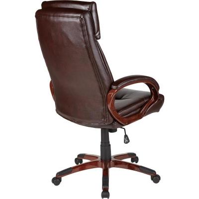 Кресло руководителя EChair 628 TR (рециклированная кожа/пластик)
