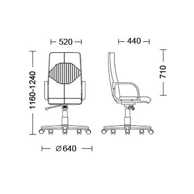Кресло руководителя Germes кожа Split