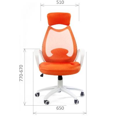 Кресло руководителя Chairman CH 840 white ткань/ сетчатый акрил