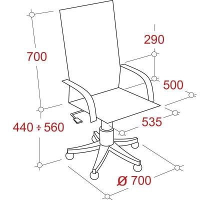 Кресло руководителя EChair 633 TR черное рециклированная кожа