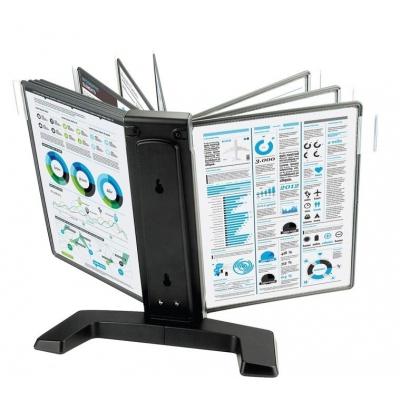 Демосистема перекидная Mega Office (10 панелей, черный)