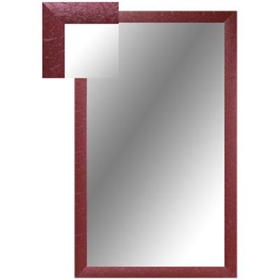 Зеркало настенное ШР-1 шелк россо прямоугольное