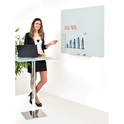 Доска стеклянная 90х120 BI-OFFICE магнитно-маркерная