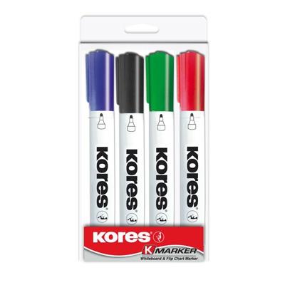 Набор маркеров для досок KORES 3мм 4шт/уп