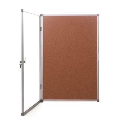 Доска-витрина пробковая 60х90 см (алюминиевая рама)