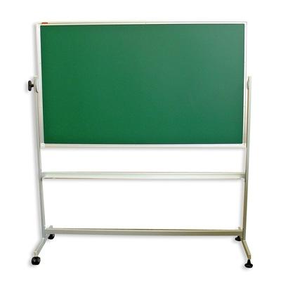Доска меловая - магнитная зеленая 100х150 вращ. мобильная