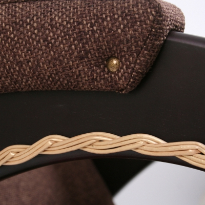 Кресло-качалка, модель 4, экокожа лоза
