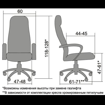 Кресло руководителя Metta BP-1 экокожа перфор.